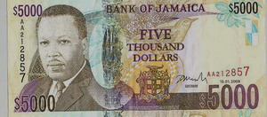 Jamaican Money $5000 bill