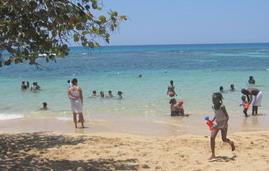 Jamaican Beach at Easter