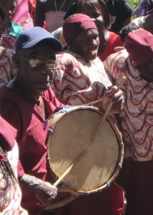 Maroon Repeater Drum