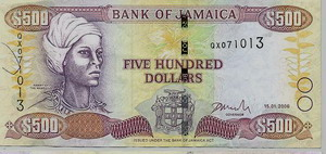 Jamaican Money $500 bill