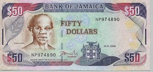 Jamaican Fifty Dollar Bill